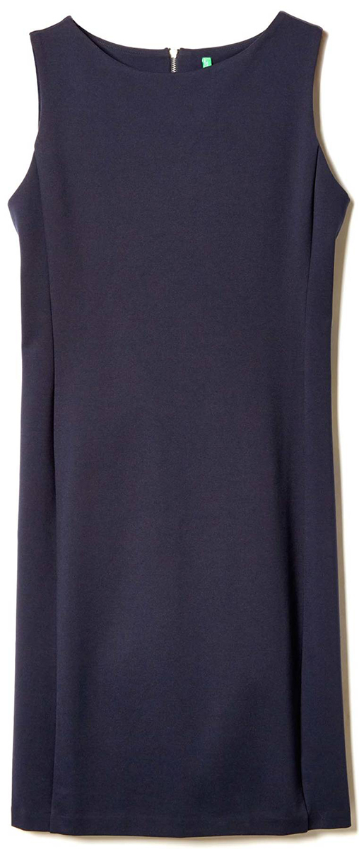 Платье United Colors of Benetton, цвет: синий. 4DI45V825_06U. Размер S (42/44)4DI45V825_06UПлатье United Colors of Benetton выполнено из качественного материала. Модель сзади застегивается на застежку-молнию.
