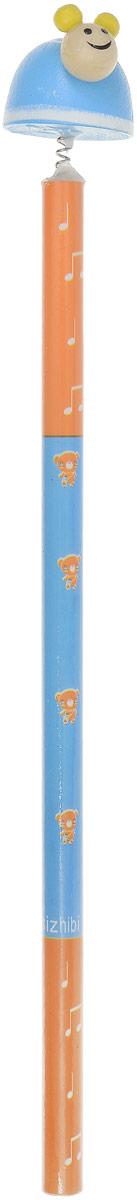 Карамба Карандаш Улитка цвет голубой оранжевый2319_голубой, оранжевыйЭтот забавный чернографитный карандаш легко найдет себе место на вашем столе. Деревянный корпус окрашен в яркие цвета с орнаментом и декорирован фигуркой в виде улитки, крепящейся при помощи пружины. Длина карандаша (без фигурки): 17,7 см.Размер фигурки: 3 см х 5 см.