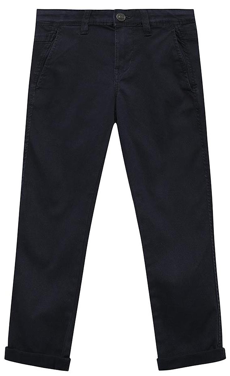 Брюки для мальчика United Colors of Benetton, цвет: синий. 4FQ455790_275. Размер 1304FQ455790_275Стильные брюки для мальчика идеально подойдут вашему ребенку для отдыха и прогулок. Изготовленные из качественного материала, они необычайно мягкие и приятные на ощупь, не сковывают движения и позволяют коже дышать, не раздражают даже самую нежную и чувствительную кожу ребенка, обеспечивая ему наибольший комфорт. Брюки на талии застегиваются на металлическую пуговицу и имеют ширинку на застежке-молнии, имеются шлевки для ремня.