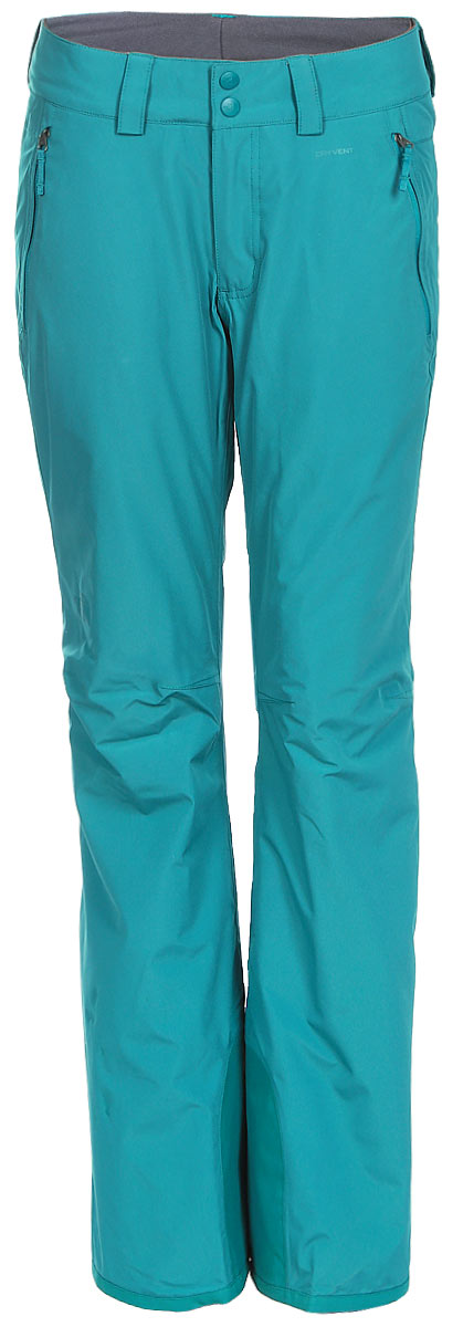 Брюки утепленные женские The North Face W Chavanne Pant, цвет: голубой. T92UA62W9. Размер L (46/48)T92UA62W9Теплые женские брюки The North Face W Chavanne Pant выполнены их полиэстера с покрытием из нейлона. Материал изготовлен при помощи технологии DryVent, которая обеспечивает превосходные водонепроницаемые и дышащие свойства, и остается сухой как изнутри, так и снаружи. Подкладка выполнена из нейлона и дополнена вставками из полиэстера. Утеплитель Heatseeker обеспечивает исключительное тепло даже в самую холодную погоду.Модель прямого кроя, застегиваются на две копки по поясу и имеют ширинку на застежке-молнии. На талии имеются шлевки для ремня. Низ брючин дополнен внутренними манжетами на резинках. Спереди брюки дополнены двумя втачными карманами на застежках-молниях. Модель оформлена термоаппликациями с названием бренда.
