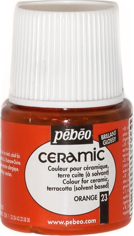 Pebeo Краска по керамике и металлу Ceramic цвет 025-023 оранжевый 45 мл025-023Краски Ceramic на основе органического растворителя - сольвентаМожно наносить на глиняные изделия, дерево и даже холстИмеют очень высокую светостойкостьКраски смешиваются друг с другом Для сохранения блеска краскинеобходимо предварительно нанести грунт для пористых поверхностейЧтобы избежать потеков при нанесении краски на выпуклые поверхности не оставляйте много краски на кистиПрименение:Краски Ceramic наносятся кистью, губкой, через трафарет, подходят для техники марморирования…Краски Ceramic можно сочетать с фактурными красками Fantasy Moon для созданияэффекта мраморной поверхности Высыхание: 2 часа поверхностное, 10 часов полноеВремя высыхания может меняться взависимости: от толщины нанесенного слоя, от температуры и влажности рабочего помещения Разбавление-очистка:Растворитель без запаха или уайт-спирит