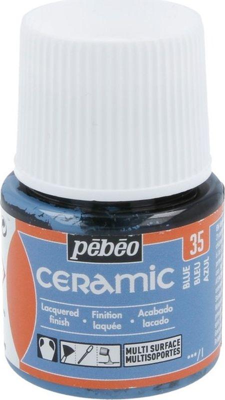 Pebeo Краска по керамике и металлу Ceramic цвет 025-035 синий 45 мл025-035Краски Ceramic на основе органического растворителя - сольвентаМожно наносить на глиняные изделия, дерево и даже холстИмеют очень высокую светостойкостьКраски смешиваются друг с другом Для сохранения блеска краскинеобходимо предварительно нанести грунт для пористых поверхностейЧтобы избежать потеков при нанесении краски на выпуклые поверхности не оставляйте много краски на кистиПрименение:Краски Ceramic наносятся кистью, губкой, через трафарет, подходят для техники марморирования…Краски Ceramic можно сочетать с фактурными красками Fantasy Moon для созданияэффекта мраморной поверхности Высыхание: 2 часа поверхностное, 10 часов полноеВремя высыхания может меняться взависимости: от толщины нанесенного слоя, от температуры и влажности рабочего помещения Разбавление-очистка:Растворитель без запаха или уайт-спирит