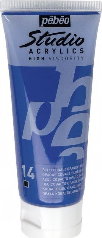 Pebeo Краска акриловая Studio Acrylics цвет 831-014 кобальт синий 100 мл831-014Акриловые краски Studio Acrylics высокой вязкости и густой консистенции Цвета живые и глубокие, богато пигментированные, имеют сатиновый блеск и очень хорошую светостойкость Обладают прекрасной адгезией, не смываются после высыхания Смешиваются друг с другом Образуют прочную и эластичную пленку Наносятся на холст, картон, дерево, металл и другие поверхности Сохнут от 30 минут до 1 часа, полное высыхание 1-8 дней в зависимости от толщины слоя Очистка инструментов: вода