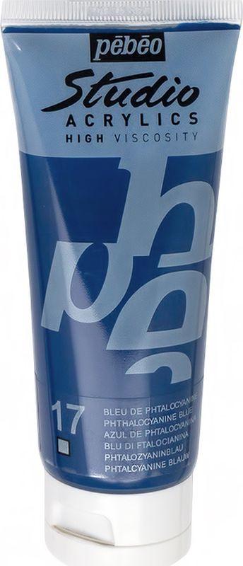 Pebeo Краска акриловая Studio Acrylics цвет 831-017 фталоцианин синий 100 мл831-017Акриловые краски Studio Acrylics высокой вязкости и густой консистенцииЦвета живые и глубокие, богато пигментированные, имеют сатиновый блеск и очень хорошую светостойкостьОбладают прекрасной адгезией, не смываются после высыханияСмешиваются друг с другомОбразуют прочную и эластичную пленкуНаносятся на холст, картон, дерево, металл и другие поверхности Сохнут от 30 минут до 1 часа, полное высыхание 1-8 дней в зависимости от толщины слоя Очистка инструментов: вода