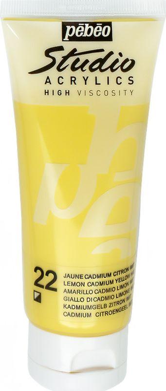 Pebeo Краска акриловая Studio Acrylics цвет 831-022 кадмий лимонный 100 мл