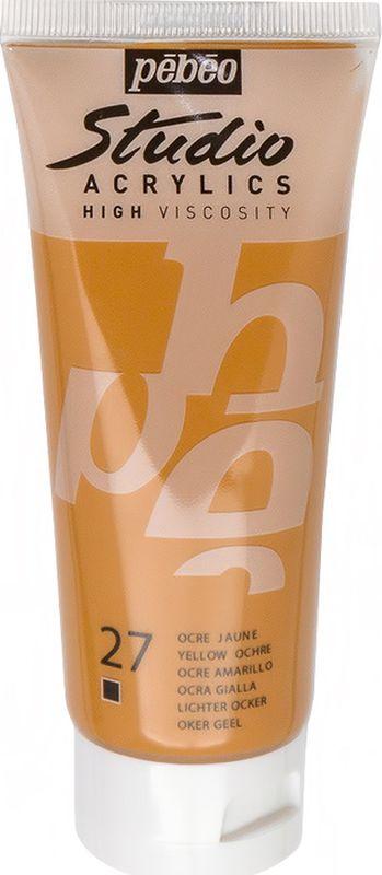 Pebeo Краска акриловая Studio Acrylics цвет 831-027 охра желтая 100 мл