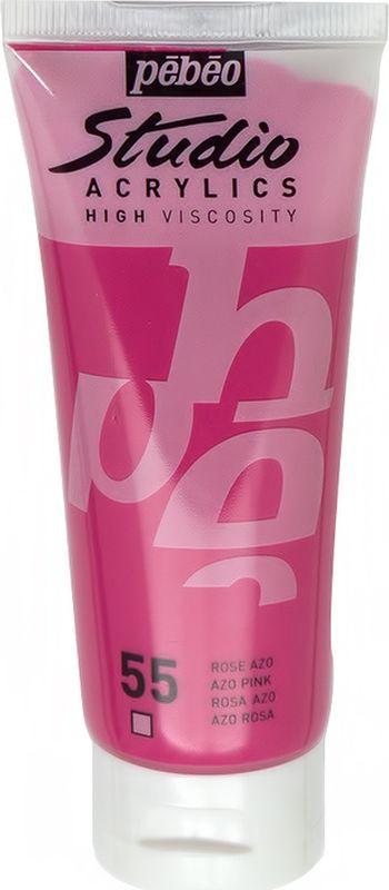 Pebeo Краска акриловая Studio Acrylics цвет 831-055 розовый 100 мл