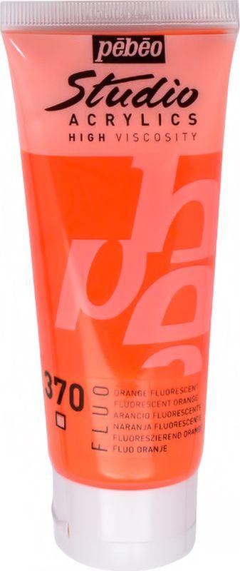 Pebeo Краска акриловая Studio Acrylics Fluo цвет 832370 оранжевый флуоресцентный 100 мл832370Флуоресцентные акриловые краски Studio Acrylics FLUOОбладают прекрасной адгезией, не смываются после высыханияСмешиваются друг с другомОбразуют прочную и эластичную пленкуНаносятся на холст, картон, дерево, металл и другие поверхности Сохнут от 30 минут до 1 часа, полное высыхание 1-8 дней в зависимости от толщины слояОчистка инструментов: вода