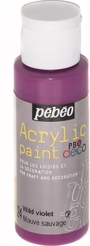 Pebeo Краска акриловая декоративная Acrylic Paint цвет 097024 фиолетовый 59 мл097024Декоративные акриловые краски Acrylic Paint предназначены для росписи по дереву, гипсу, картону и другим поверхностямКраски смешиваются друг с другомВодостойкие после высыханияОбладают высокой покрывной способностьюИмеют матовый блескРазводятся водой