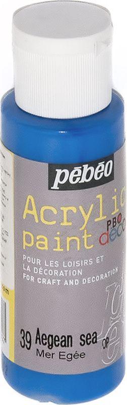 Pebeo Краска акриловая декоративная Acrylic Paint цвет 39 эгейское море 59 мл аппартаменты в турции эгейское море