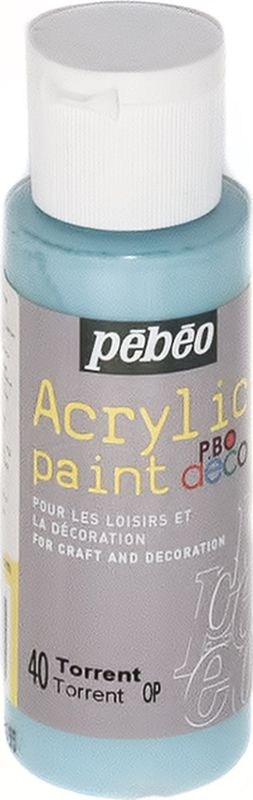 Pebeo Краска акриловая декоративная Acrylic Paint цвет 097040 ливень 59 мл097040Декоративные акриловые краски Acrylic Paint предназначены для росписи по дереву, гипсу, картону и другим поверхностямКраски смешиваются друг с другомВодостойкие после высыханияОбладают высокой покрывной способностьюИмеют матовый блескРазводятся водой