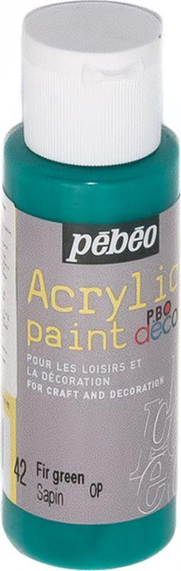 Pebeo Краска акриловая декоративная Acrylic Paint цвет 097042 зеленый еловый 59 мл097042Декоративные акриловые краски Acrylic Paint предназначены для росписи по дереву, гипсу, картону и другим поверхностямКраски смешиваются друг с другомВодостойкие после высыханияОбладают высокой покрывной способностьюИмеют матовый блескРазводятся водой