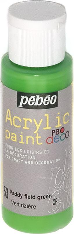 Pebeo Краска акриловая декоративная Acrylic Paint цвет 097053 зеленый грунтовой 59 мл097053Декоративные акриловые краски Acrylic Paint предназначены для росписи по дереву, гипсу, картону и другим поверхностямКраски смешиваются друг с другомВодостойкие после высыханияОбладают высокой покрывной способностьюИмеют матовый блескРазводятся водой