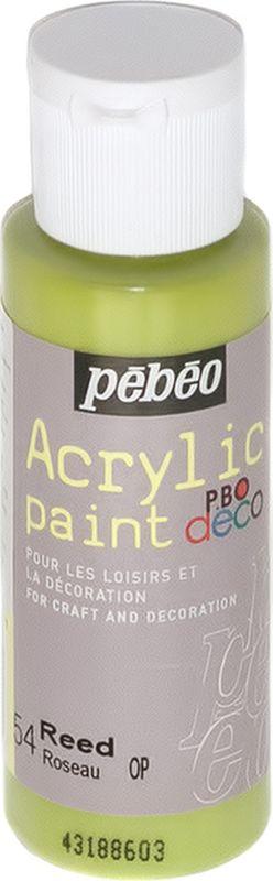 Pebeo Краска акриловая декоративная Acrylic Paint цвет 097054 тростник 59 мл097054Декоративные акриловые краски Acrylic Paint предназначены для росписи по дереву, гипсу, картону и другим поверхностям Краски смешиваются друг с другом Водостойкие после высыхания Обладают высокой покрывной способностью Имеют матовый блеск Разводятся водой