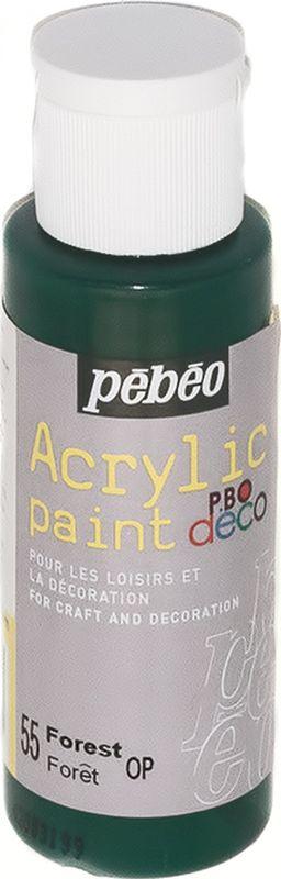 Pebeo Краска акриловая декоративная Acrylic Paint цвет 097055 лес 59 мл097055Декоративные акриловые краски Acrylic Paint предназначены для росписи по дереву, гипсу, картону и другим поверхностямКраски смешиваются друг с другомВодостойкие после высыханияОбладают высокой покрывной способностьюИмеют матовый блескРазводятся водой