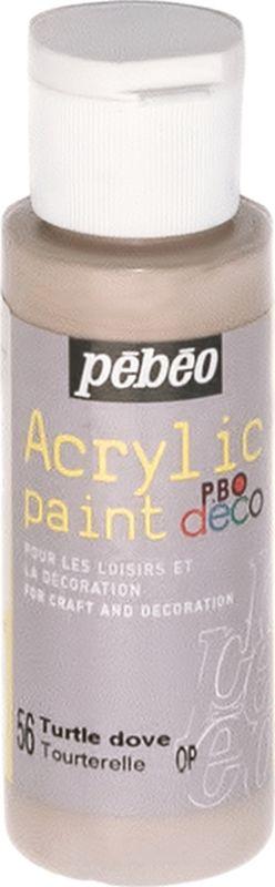 Pebeo Краска акриловая декоративная Acrylic Paint цвет 097056 черепаха 59 мл097056Декоративные акриловые краски Acrylic Paint предназначены для росписи по дереву, гипсу, картону и другим поверхностям Краски смешиваются друг с другом Водостойкие после высыхания Обладают высокой покрывной способностью Имеют матовый блеск Разводятся водой