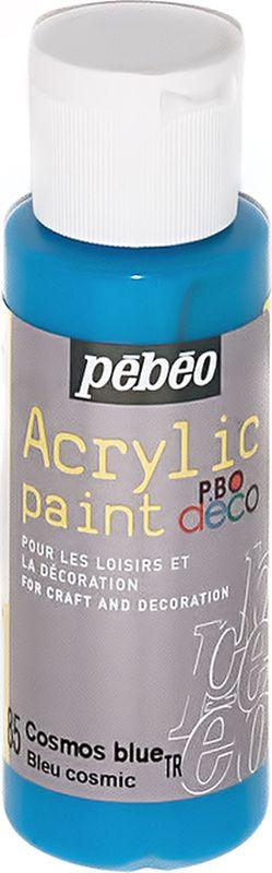 Pebeo Краска акриловая декоративная Acrylic Paint цвет 85 голубой неоновый 59 мл097085Декоративные акриловые краски Acrylic Paint предназначены для росписи по дереву, гипсу, картону и другим поверхностям.- Краски смешиваются друг с другом.- Водостойкие после высыхания.- Обладают высокой покрывной способностью.- Имеют матовый блеск.- Разводятся водой.