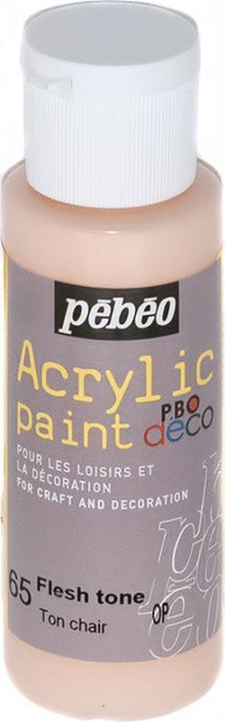 Pebeo Краска акриловая декоративная Acrylic Paint цвет 097065 телесный 59 мл097065Декоративные акриловые краски Acrylic Paint предназначены для росписи по дереву, гипсу, картону и другим поверхностямКраски смешиваются друг с другомВодостойкие после высыханияОбладают высокой покрывной способностьюИмеют матовый блескРазводятся водой