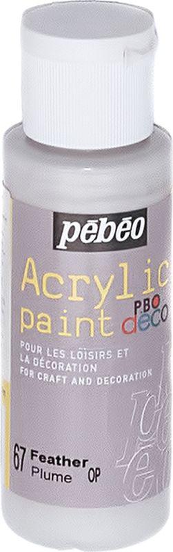 Pebeo Краска акриловая декоративная Acrylic Paint 097067 перья 59 мл097067Декоративные акриловые краски Acrylic Paint предназначены для росписи по дереву, гипсу, картону и другим поверхностямКраски смешиваются друг с другомВодостойкие после высыханияОбладают высокой покрывной способностьюИмеют матовый блескРазводятся водой