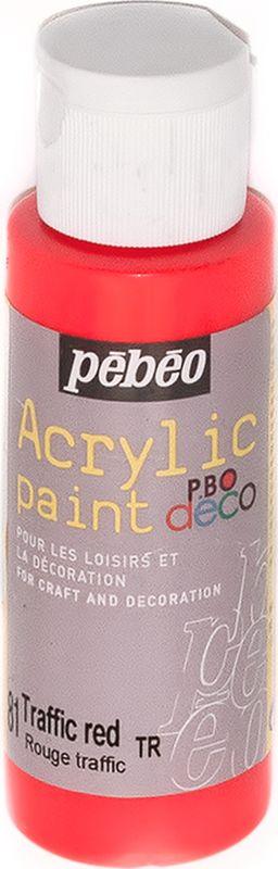 Pebeo Краска акриловая декоративная Acrylic Paint цвет 097081 красный неоновый 59 мл097081Декоративные акриловые краски Acrylic Paint предназначены для росписи по дереву, гипсу, картону и другим поверхностямКраски смешиваются друг с другомВодостойкие после высыханияОбладают высокой покрывной способностьюИмеют матовый блескРазводятся водой