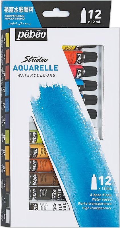 Pebeo Акварель набор Studio Aquarelle 12 цветов 668400 12 мл668400Состав: 12 цветов по 12 мл Акварельные краски Pebeo отлично размываются, сохраняя глубину тона и прозрачность, которая не исчезает после высыханияКраски соответствуют требованиям самых взыскательных акварелистовВремя высыхания акварельных красок Pebeo - несколько часов в зависимости от типа поверхности и количества использованной водыПоверхности: акварельная бумага, картонОчистка инструментов: вода