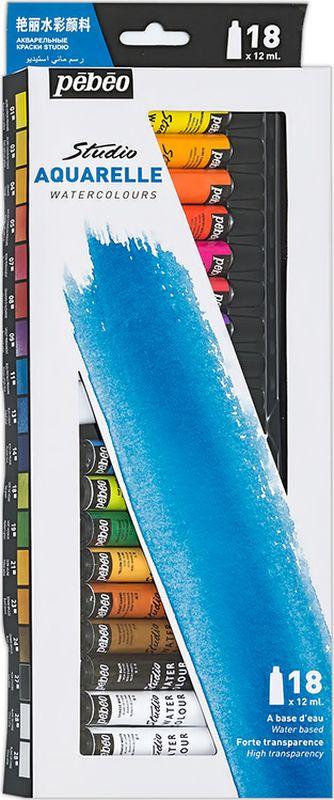 Состав: 18 цветов по 12 мл   Акварельные краски Pebeo отлично размываются, сохраняя глубину тона и прозрачность, которая не исчезает после высыхания   Краски соответствуют требованиям самых взыскательных акварелистов    Время высыхания акварельных красок Pebeo - несколько часов в зависимости от типа поверхности и количества использованной воды   Поверхности: акварельная бумага, картон    Очистка инструментов: вода