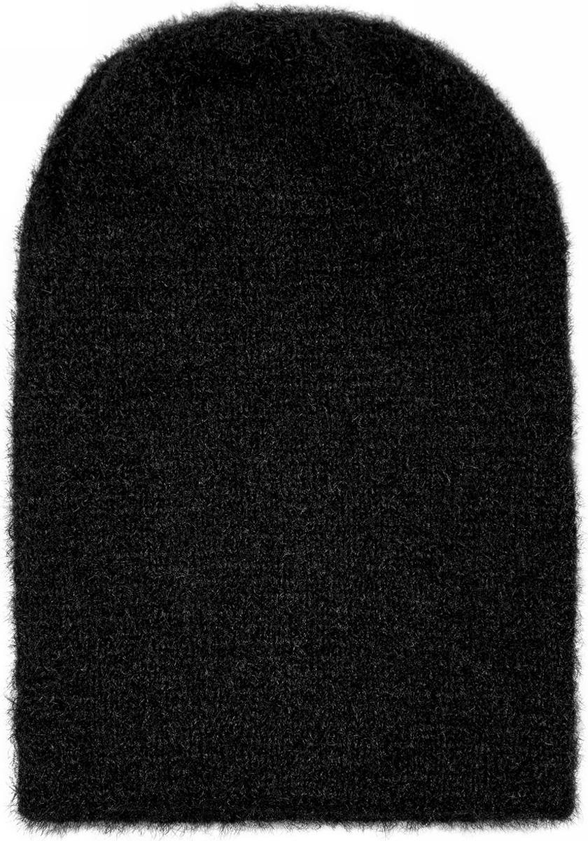 Шапка женская oodji, цвет: черный. 47602068/47283/2900N. Размер XS-L (55/58)47602068/47283/2900N