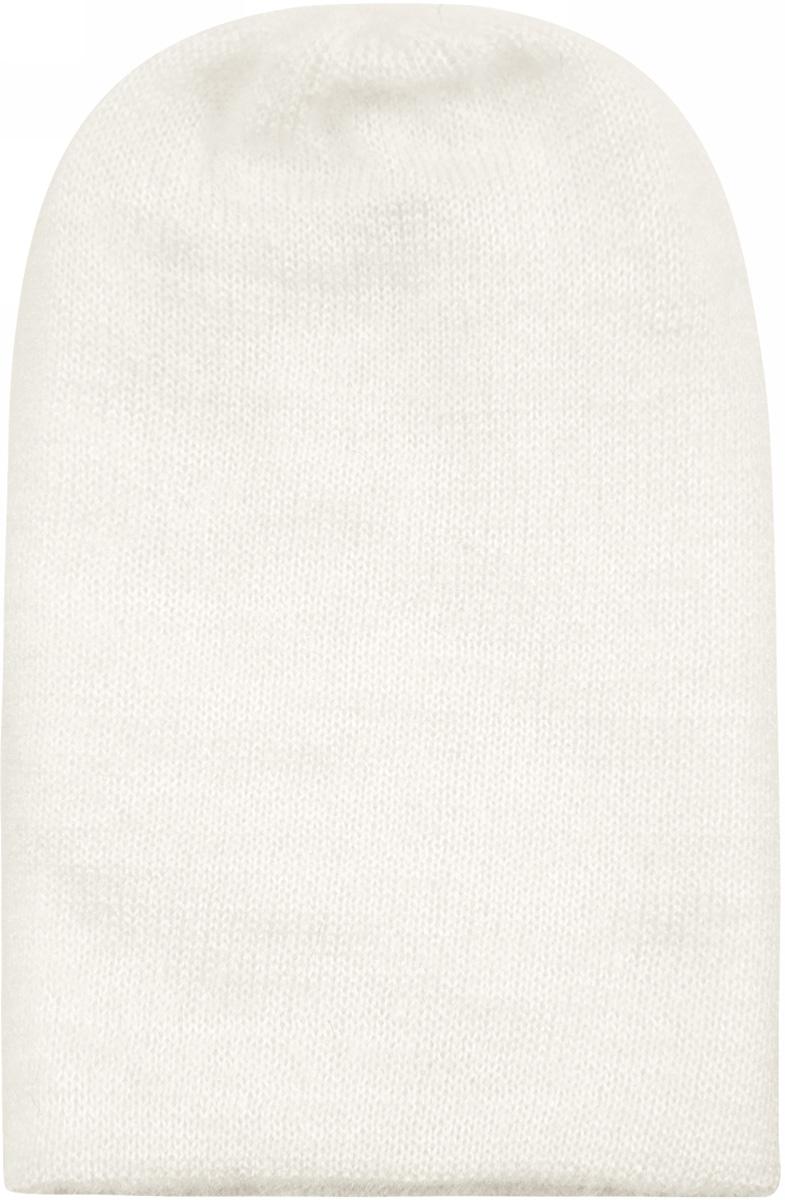 Шапка женская oodji, цвет: белый. 47602068/47283/1200N. Размер XS-L (55/58)47602068/47283/1200N