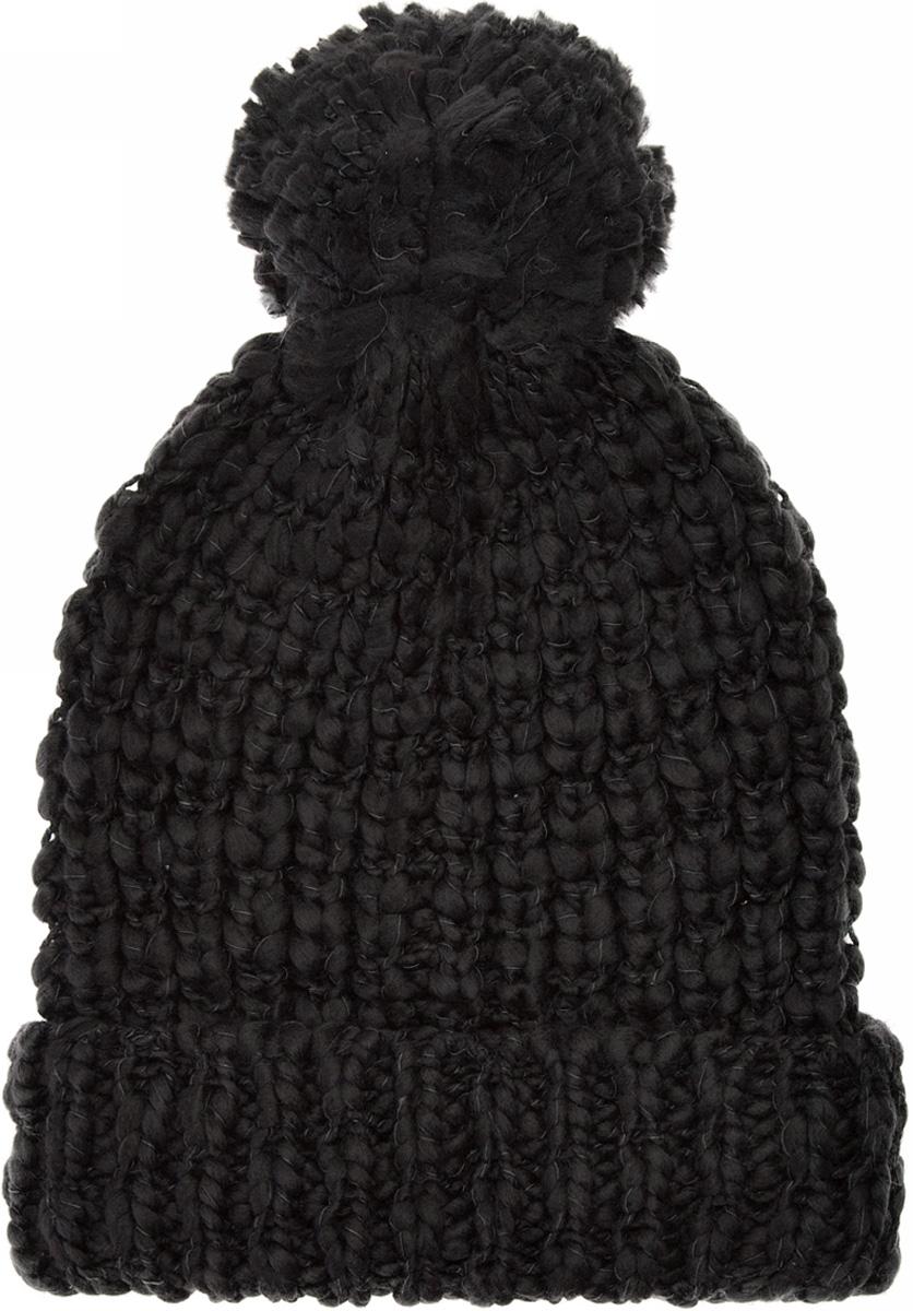 Шапка женская oodji, цвет: черный. 47602058/45731/2900N. Размер XS/L (55/58)47602058/45731/2900NШапка от oodji крупной вязки с отворотом с помпоном. Отлично создает бодрящее настроение. Шапка из мягкой пряжи хорошо вписывается и в повседневный, и в спортивный стили. Ее можно носить с любой верхней одеждой, будь то куртка, пуховик или пальто. К комплекту легко подобрать сумку или рюкзак. Найти перчатки под эту универсальную шапку тоже легко. И, конечно же, эта шапка превосходно сочетается с самыми разными шарфами, особенно с вязаными. Если вы ищете универсальный и нескучный головной убор, который способен не только защитить от холода, но и поднять настроение – эта шапка просто создана для вас.