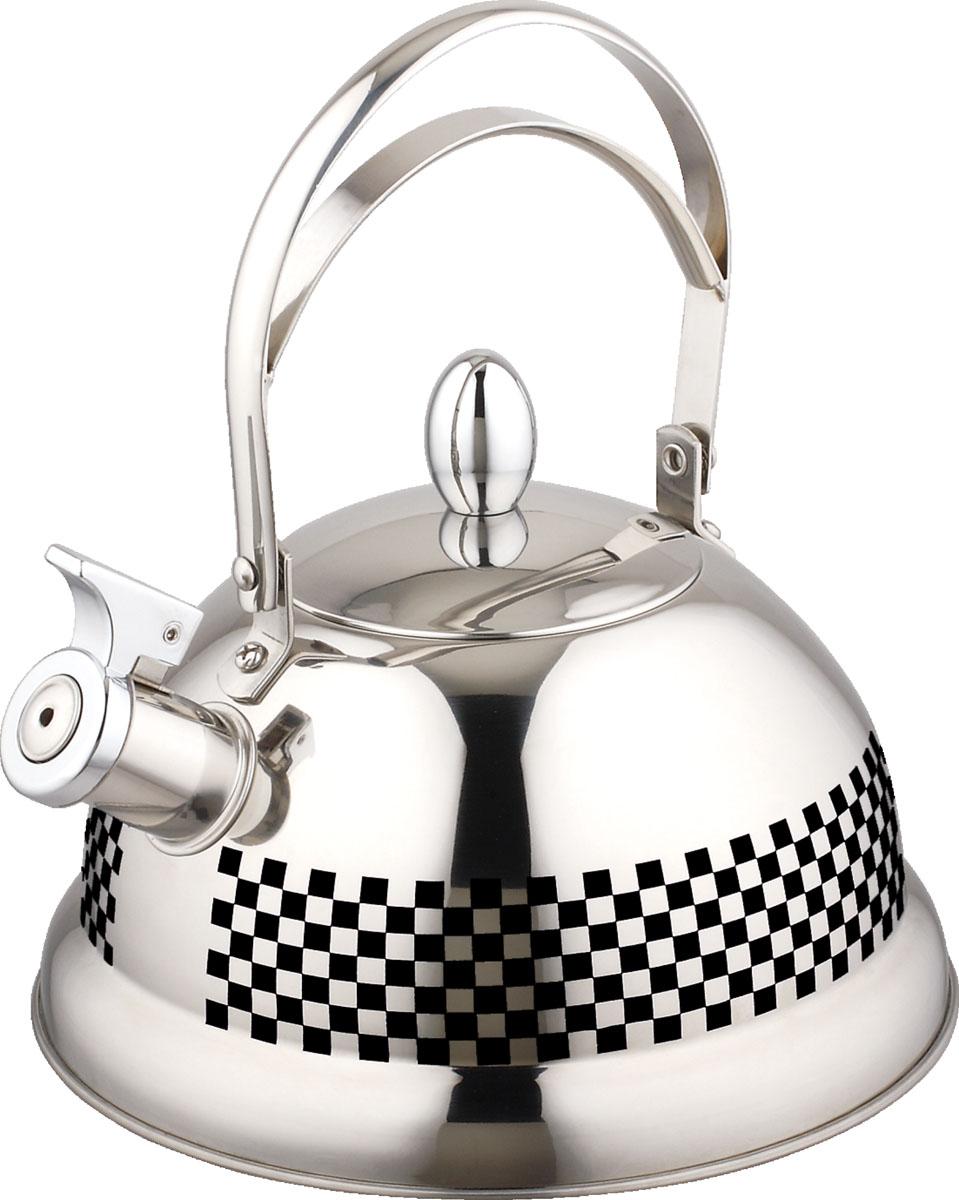Чайник Bayerhoff, со свистком, цвет: металлик, 2,7 л. BH-424BH-424Материал: высококачественная нержавеющая сталь. Объем: 2,7 л. Клапан открывается кнопкой на ручке. Эргономичная ручка не нагревается и не скользит. Подходит для всех типов плит.