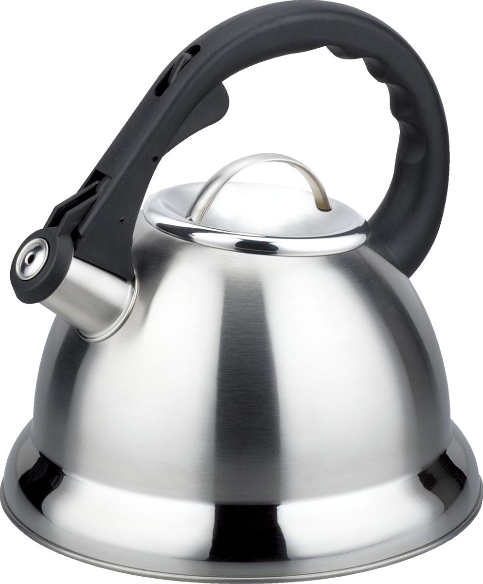 Чайник Bayerhoff, со свистком, цвет: металлик, 3 л. BH-446BH-446Материал: высококачественная нержавеющая сталь. Объем: 3,0 л. Клапан открывается кнопкой на ручке. Эргономичная ручка не нагревается и не скользит. Подходит для всех типов плит.