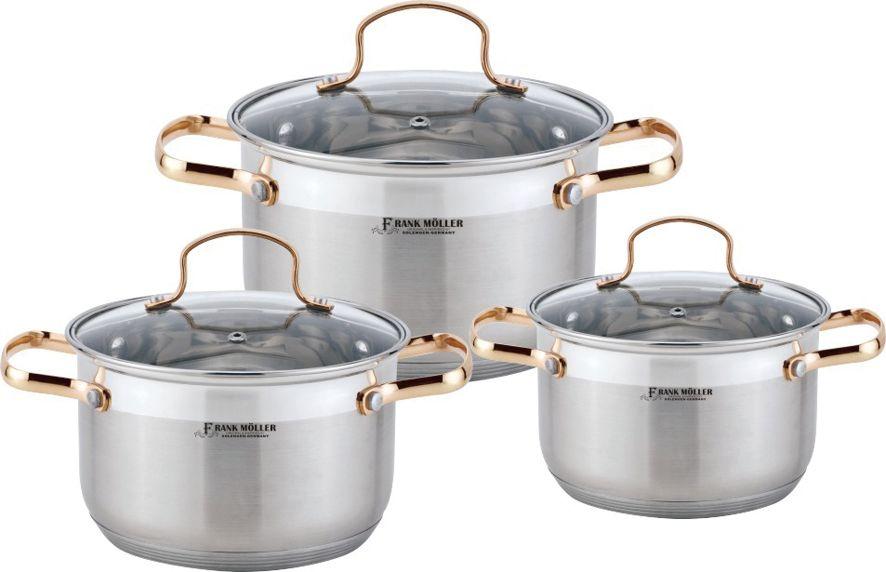 Набор посуды Frank Moller, 6 предметов. FM-796 кастрюля амет классика прима с крышкой 8 л