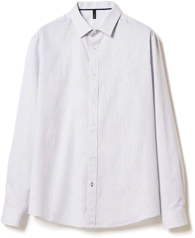 Рубашка муж United Colors of Benetton, цвет: белый, синий, полоска. 5APA5QE78_906. Размер XXL (54/56)5APA5QE78_906