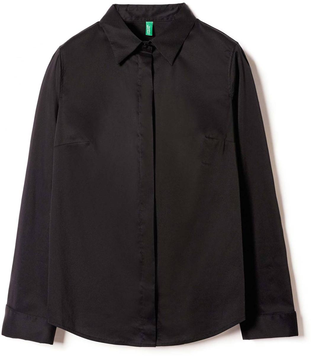 Рубашка жен United Colors of Benetton, цвет: черный. 5AWR5Q6E3_100. Размер XL (48/50)5AWR5Q6E3_100