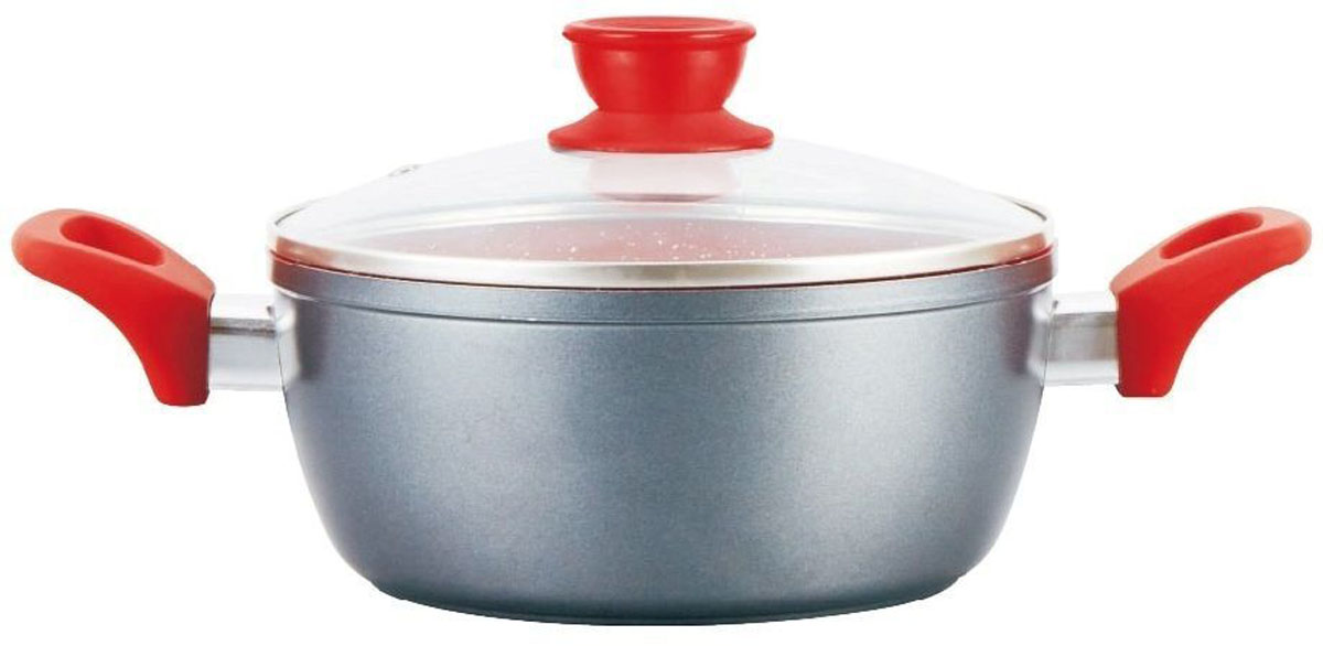 Кастрюля Mercury, с антипригарным покрытием non-stick под мрамор, 2,8 лMC-6230Материал: алюминий.Объем: 2,8 л.Диаметр: 20 см.Мраморное антипригарное покрытие. Ненагревающиеся ручки. Индукционное дно. Можно мыть в посудомоечной машине. Подходит для всех видов плит.