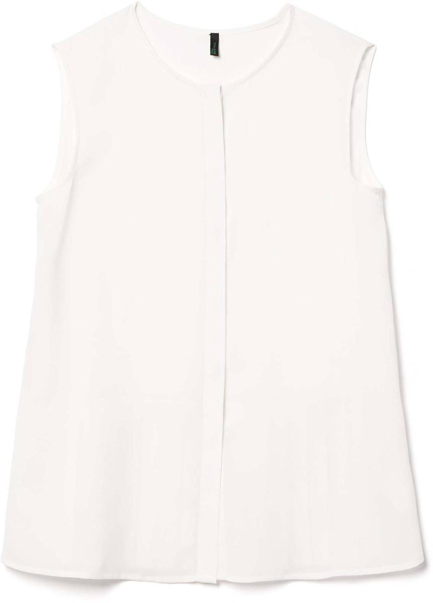Рубашка жен United Colors of Benetton, цвет: белый. 5BUI5Q7X5_036. Размер M (44/46)5BUI5Q7X5_036Блузка женская United Colors of Benetton выполнена из полиэстера. Модель с круглым вырезом горловины.