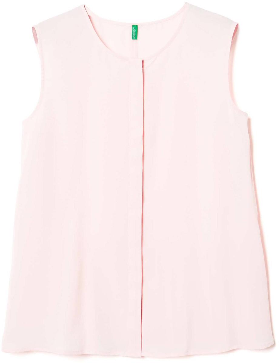 Рубашка жен United Colors of Benetton, цвет: розовый. 5BUI5Q7X5_04U. Размер S (42/44)5BUI5Q7X5_04UБлузка женская United Colors of Benetton выполнена из полиэстера. Модель с круглым вырезом горловины.