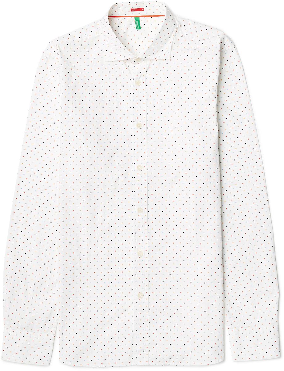 Рубашка муж United Colors of Benetton, цвет: белый. 5BWF5QBN8_922. Размер M (48/50)5BWF5QBN8_922