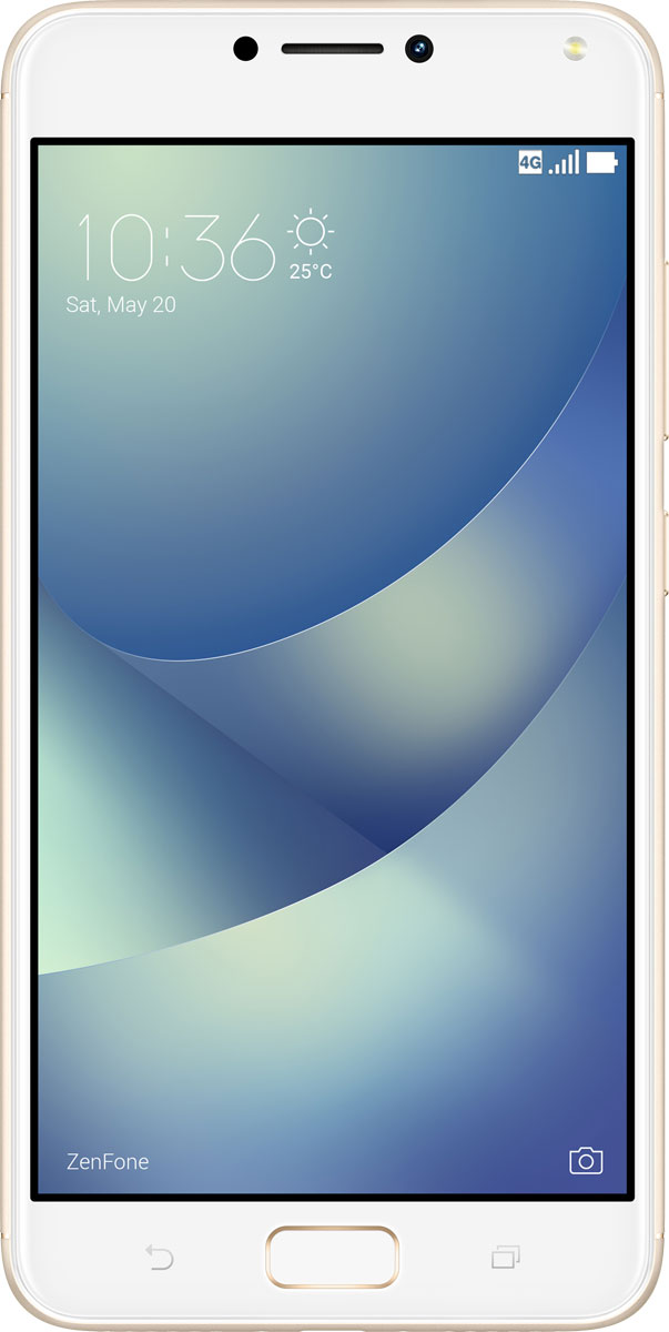 ASUS ZenFone 4 Max ZC554KL, Gold90AX00I2-M00020Смартфон ASUS ZenFone 4 Max создан для людей, ведущих мобильный стиль жизни, и поэтому оснащается аккумулятором емкостью 5000 мАч - этого вполне достаточно на целый день активного пользования. А чтобы запечатлеть все памятные моменты, происходящие в течение дня, у него имеется пара высококачественных тыловых камер, одна из которых обладает широкоугольным (120°) объективом.ZenFone 4 Max наделен системой из двух тыловых камер, которые позволяют получать высококачественные снимки в различных условиях. Одна камера - с разрешением 13 мегапикселей и большой апертурой (f/2,0) - является основной и служит для обычной фотосъемки, а вторая оснащается широкоугольным (120°) объективом, который будет оптимален для пейзажных и групповых фото.Широкоугольная камера ZenFone 4 Max обладает 120-градусным полем обзора, что в два раза превышает возможности стандартных смартфонных камер. Таким образом, в кадр помещается больше пространства и объектов, и это способствует получению красочных пейзажных снимков. Такая камера пригодится и при съемке в тесном помещении, когда бывает невозможно сделать несколько шагов назад, чтобы поймать в кадр всех присутствующих. Кроме того, уникальная перспектива, создаваемая широкоугольным объективом, может применяться для создания определенного стилистического эффекта, подчеркивая ощущение большого пространства.ZenFone 4 Max оснащается 13-мегапиксельной основной камерой с функцией мгновенного срабатывания затвора, а фронтальная камера, обладающая сенсором с разрешением 8 мегапикселей, поможет сделать отличные селфи и пообщаться по видеосвязи.8-мегапиксельная селфи-камера наделена светодиодной вспышкой, дающей мягкое, рассеянное освещение, которое помогает лучше передать телесный цвет. А чтобы получить еще более красочный результат, можно воспользоваться функцией улучшения портрета, которая автоматически убирает дефекты кожи, корректирует черты лица и вносит в снимок ряд других мелких, но эффективных изменений