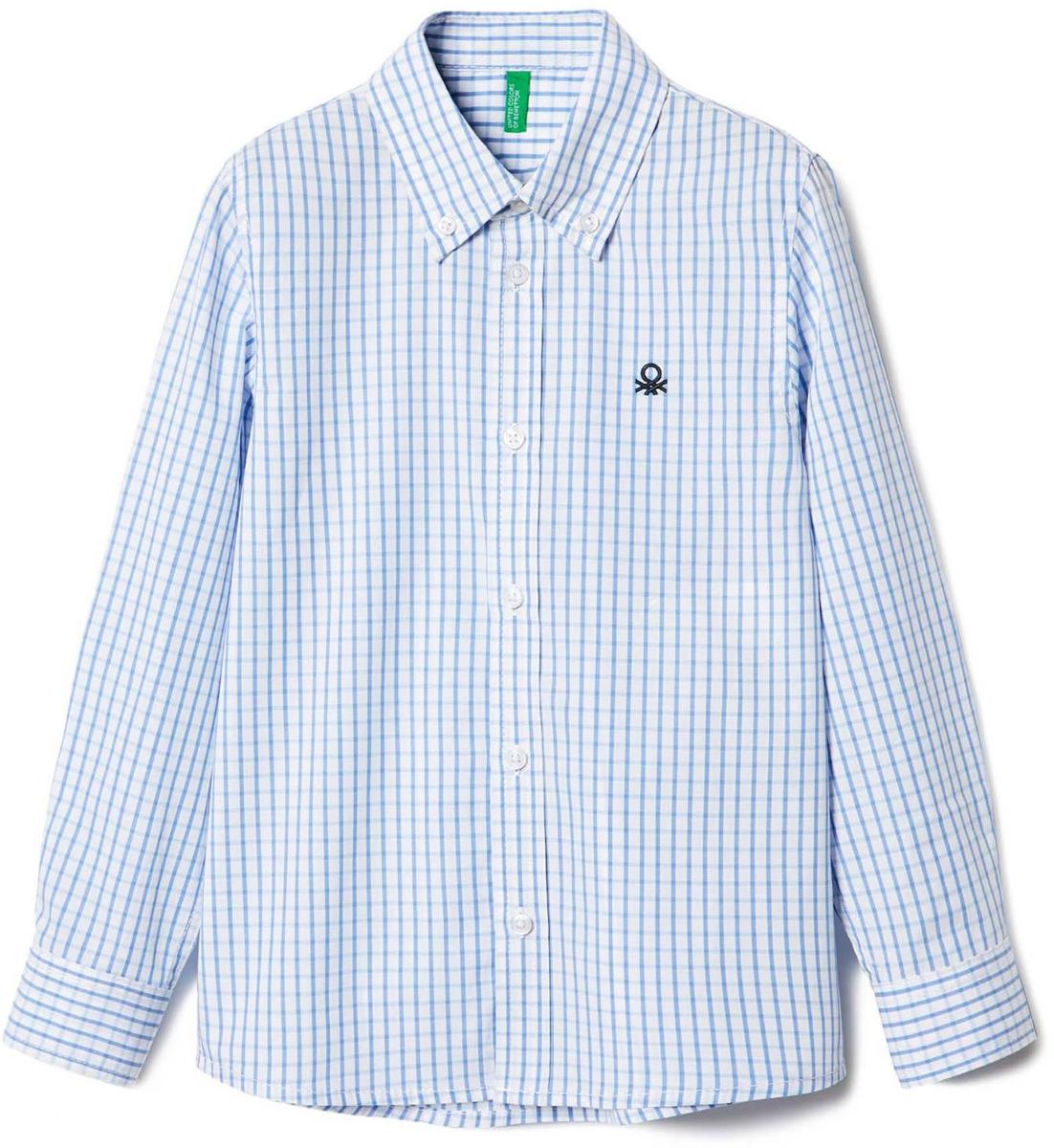 Рубашка для мальчиков United Colors of Benetton, цвет: белый. 5DU65Q200_902. Размер 1505DU65Q200_902