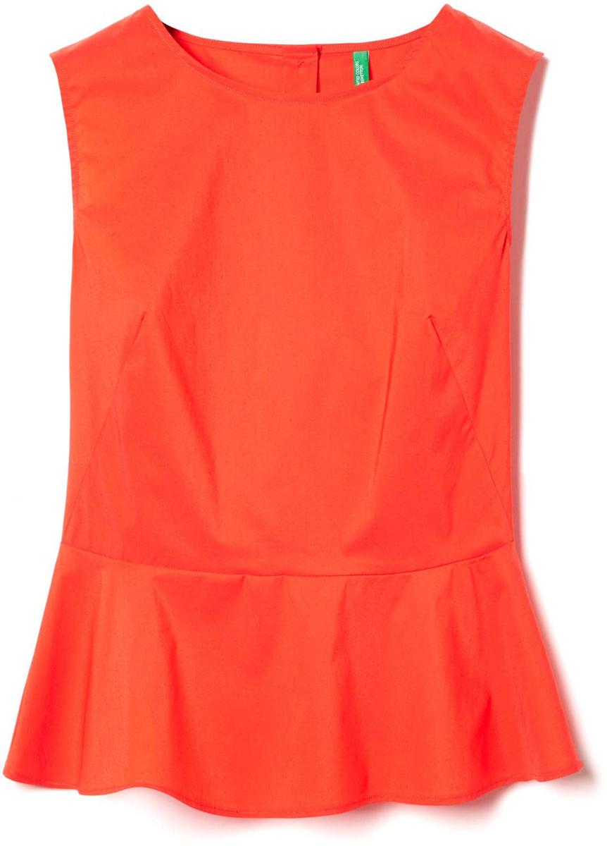 Блузка женская United Colors of Benetton, цвет: красный. 5EF25Q803_07D. Размер XS (40/42)5EF25Q803_07DБлузка женская United Colors of Benetton выполнена из качественного материала. Модель без рукавов с круглым вырезом горловины.