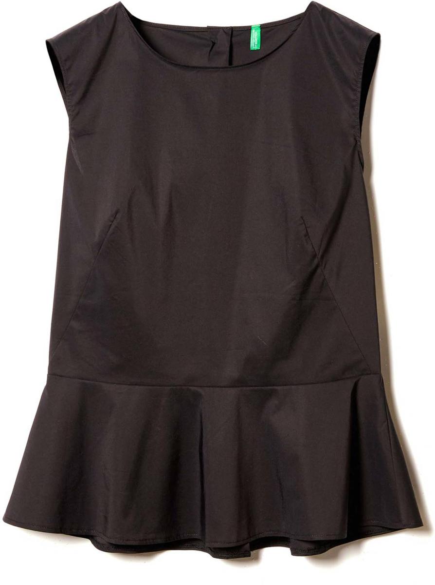 Блузка женская United Colors of Benetton, цвет: черный. 5EF25Q803_100. Размер M (44/46)5EF25Q803_100Блузка женская United Colors of Benetton выполнена из качественного материала. Модель без рукавов с круглым вырезом горловины.