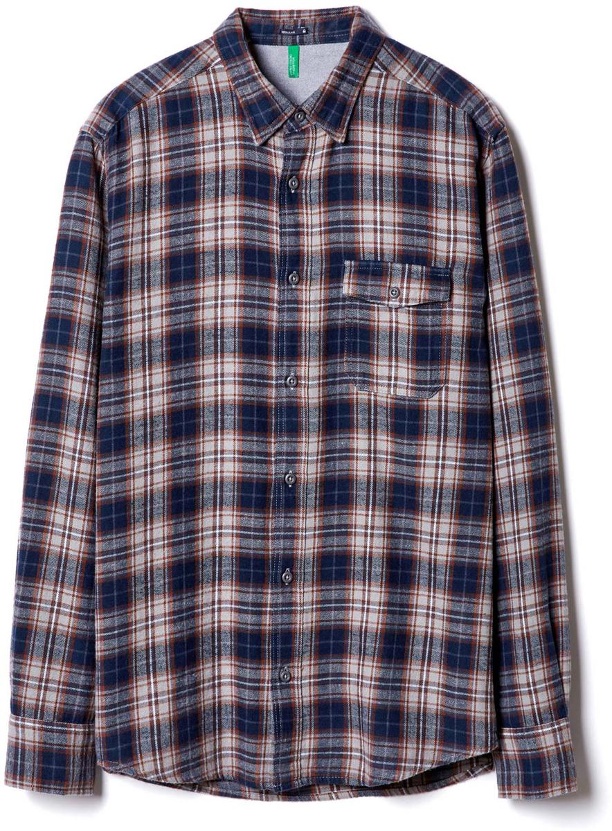 Рубашка муж United Colors of Benetton, цвет: мультиколор. 5UR05QEL8_904. Размер XL (52/54)5UR05QEL8_904