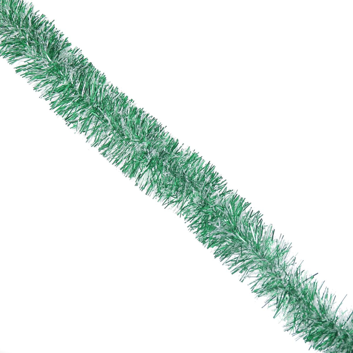 Мишура новогодняя Sima-land, цвет: белый, зеленый, диаметр 6,5 см, длина 140 см. 627195627195_белый, зеленыйНовогодняя мишура Sima-land, выполненная из ПВХ, поможет вам украсить свой дом к предстоящим праздникам. Новогодняя елка с таким украшением станет еще наряднее. Новогодней мишурой можно украсить все, что угодно - елку, квартиру, дачу, офис - как внутри, так и снаружи. Можно сложить новогодние поздравления, буквы и цифры, мишурой можно украсить и дополнить гирлянды, можно выделить дверные колонны, оплести дверные проемы.