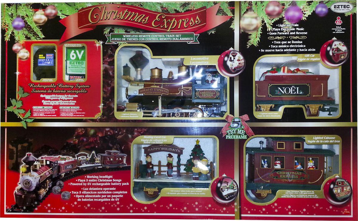 EZTEC Железная дорога новогодняя радиоуправляемая Christmas Express Train Set - Железные дороги