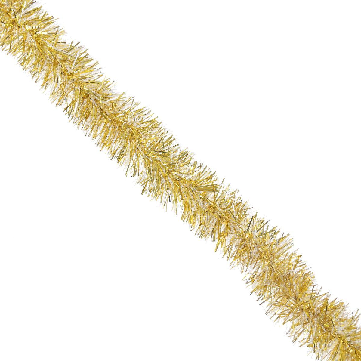 """Мишура новогодняя """"Sima-land"""", цвет: желтый, серебристый, диаметр 6,5 см, длина 140 см. 627195"""