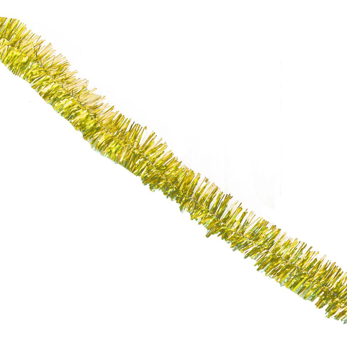 Мишура новогодняя Sima-land, цвет: золотистый, диаметр 3 см, длина 132 см. 701304701304_золотистыйМишура новогодняя Sima-land, выполненная из фольги, поможет вам украсить свой дом к предстоящим праздникам. Мишура армирована, то есть имеет проволоку внутри и способна сохранять приданную ей форму. Новогодняя елка с таким украшением станет еще наряднее. Новогодней мишурой можно украсить все, что угодно - елку, квартиру, дачу, офис - как внутри, так и снаружи. Можно сложить новогодние поздравления, буквы и цифры, мишурой можно украсить и дополнить гирлянды, можно выделить дверные колонны, оплести дверные проемы.