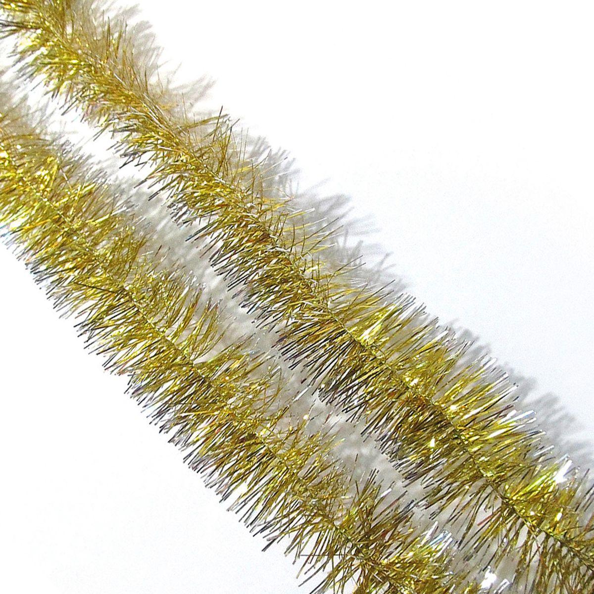 Мишура новогодняя Sima-land, цвет: золотистый, диаметр 6 см, длина 160 см. 701306701306_золотистый_1Мишура новогодняя Sima-land, выполненная из фольги, поможет вам украсить свой дом к предстоящим праздникам. Мишура армирована, то есть имеет проволоку внутри и способна сохранять приданную ей форму. Новогодняя елка с таким украшением станет еще наряднее. Новогодней мишурой можно украсить все, что угодно - елку, квартиру, дачу, офис - как внутри, так и снаружи. Можно сложить новогодние поздравления, буквы и цифры, мишурой можно украсить и дополнить гирлянды, можно выделить дверные колонны, оплести дверные проемы.