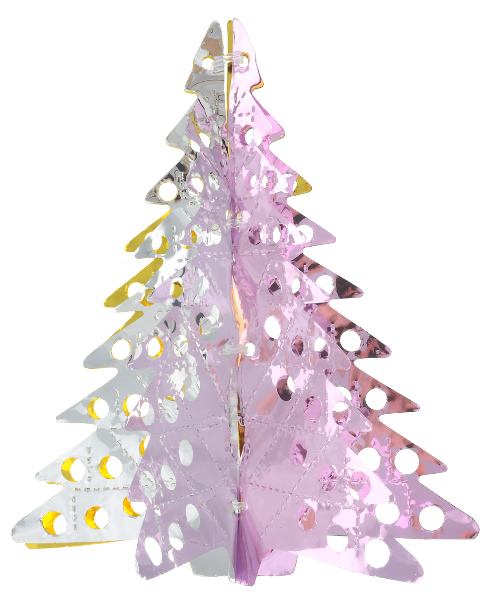 Украшение новогоднее подвесное Winter Wings Елочка, цвет: зеленый, золотистый, розовый, розовый, высота 26 смN09185_зеленый, золотистый, розовый, серебристыйНовогоднее подвесное украшение Winter Wings Елочка, выполненное из разноцветного ПВХ, прекрасно подойдет для праздничного декора дома. С помощью специальной петельки украшение можно подвесить в любом понравившемся вам месте. Легко складывается и раскладывается. Новогодние украшения несут в себе волшебство и красоту праздника. Они помогут вам украсить дом к предстоящим праздникам и оживить интерьер по вашему вкусу. Создайте в доме атмосферу тепла, веселья и радости, украшая его всей семьей.