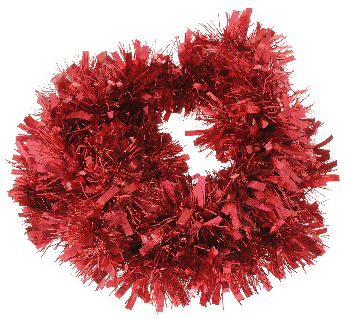 Мишура новогодняя Magic Time, цвет: красный, диаметр 9 см, длина 200 см. 2694926949_красныйПушистая новогодняя мишура Magic Time поможет вам реализовать самые экстравагантные дизайнерские идеи, украсив стены, потолок, архитектурные элементы, проемы окон и дверей. Мишура способна отразить блеск огней елочных гирлянд и добавить волшебства в праздничный интерьер квартиры. Создайте в своем доме атмосферу тепла, веселья и радости, украшая его всей семьей.